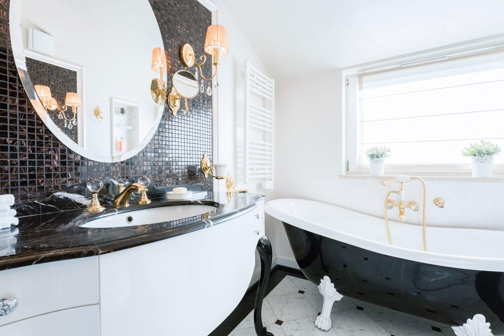 39459840 – image of new fashionable baroque style bathroom