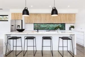 waterfall kitchen countertop